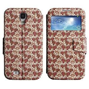 LEOCASE mariposa roja Funda Carcasa Cuero Tapa Case Para Samsung Galaxy S4 I9500 No.1003591