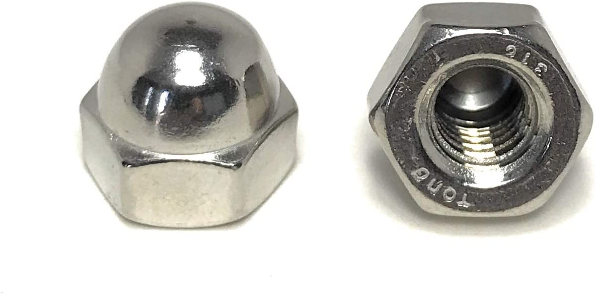 20 Pieces 5//16-18 Acorn Cap Nuts 316 Marine Grade Stainless Steel