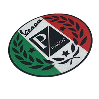 Langersun 2PCS Car Styling Vinyl Tape Motorbike Laptop Sticker Waterproof for Vespa Piaggio 9x9cm: Automotive