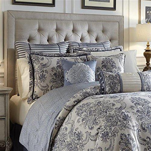 - Croscill Estate Amelia 4-pc. Comforter Set, Blue & Ivory Damask, California King