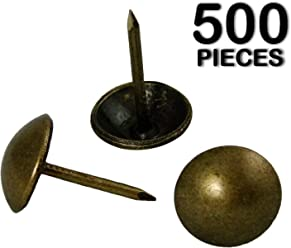 decotacks Upholstery Nails//Tacks 3//4-100 Pcs DX6918AB-100 Antique Brass, French Natural