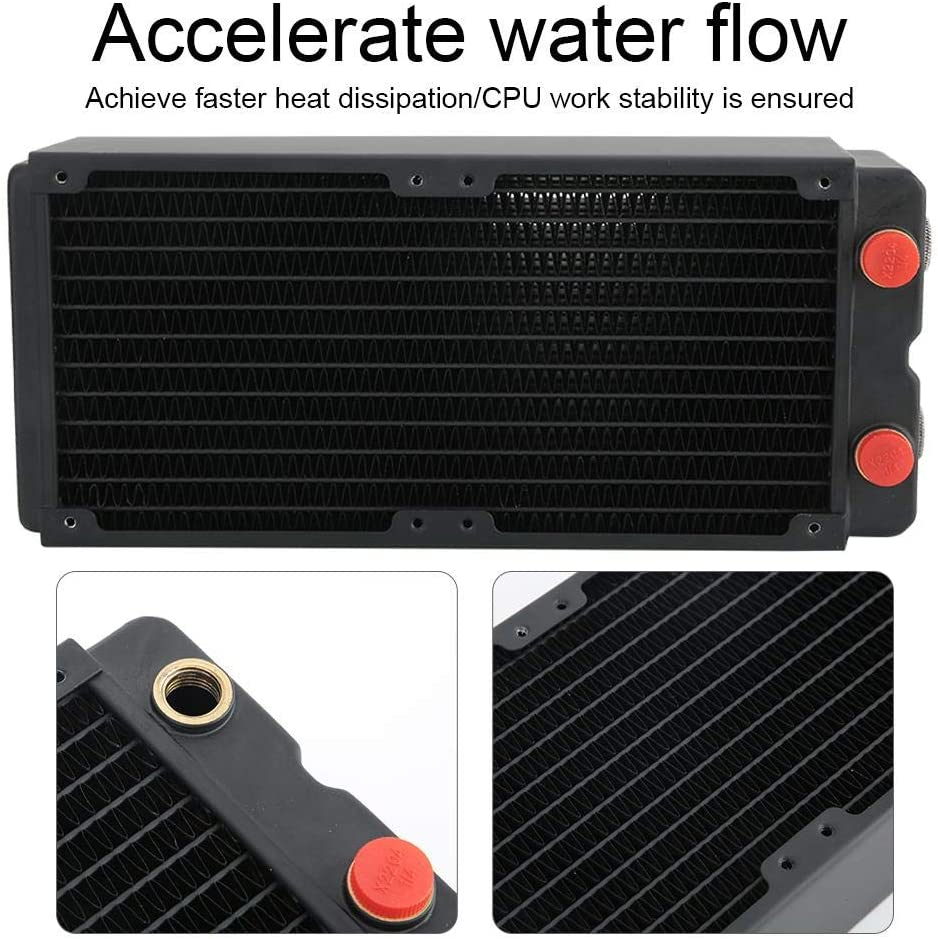 Computer Radiator Computer Water Cooling Accessory 3-Layer Heat Sink Copper Radiator 65MM for PC Suitable for Computer Water Cooling Systems Beauty Apparatus etc.