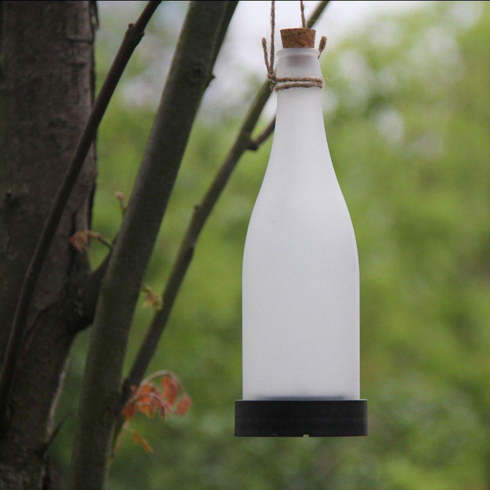 Amazon.com : 5pcs Plastic LED Solar Bottle Lights Wine Bottle Light ...