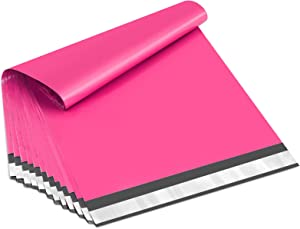 UCGOU 14.5x19 Inch Hot Pink Poly Mailers 2.35MIL Premium Shipping Envelopes Mailer Self Sealed Mailing Bags with Self Adhesive Strip Waterproof and Tear-proof Postal Bags 100Pcs