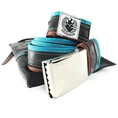 d8898f0bb8bb Felvarrom - Ceinture - Homme turquoise Turquoise Blue - Dark Brown -  turquoise - Taille Unique