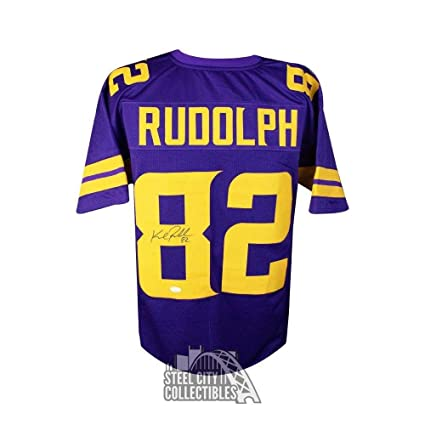 33b600688dc Image Unavailable. Image not available for. Color  Kyle Rudolph Autographed  Jersey - Custom Color Rush - JSA Certified - Autographed NFL Jerseys