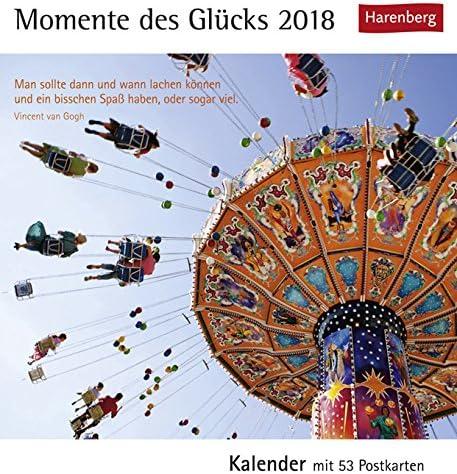 Postkartenkalender Momente des Glücks - Kalender 2018 - Harenberg-Verlag - mit 53 heraustrennbaren Postkarten - 16 cm x 17,5 cm