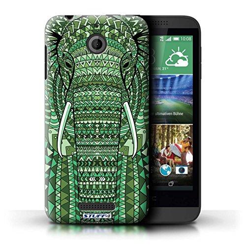 Coque de Stuff4 / Coque pour HTC Desire 510 / éléphant-Vert Design / Motif Animaux Aztec Collection