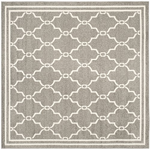 safavieh amherst collection amt414r dark grey and beige indoor outdoor square area rug 5u0027 square