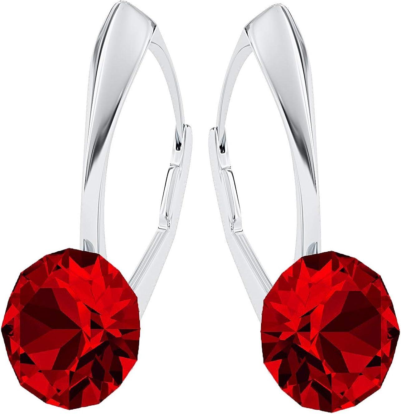 Pendientes Crystals & Stones Xirius PIN/75, con cristales de Swarovski®, de plata de ley 925, en muchos colores, con caja de regalo