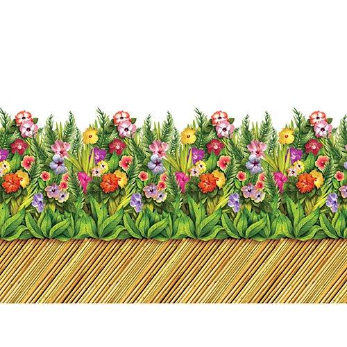 Tropical Flower & Bamboo Walkway Border Roll