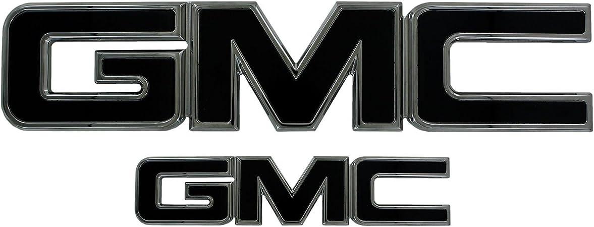2015-2018 GMC YUKON /& YUKON XL FRONT /& REAR GMC EMBLEM IN BLACK 84395036