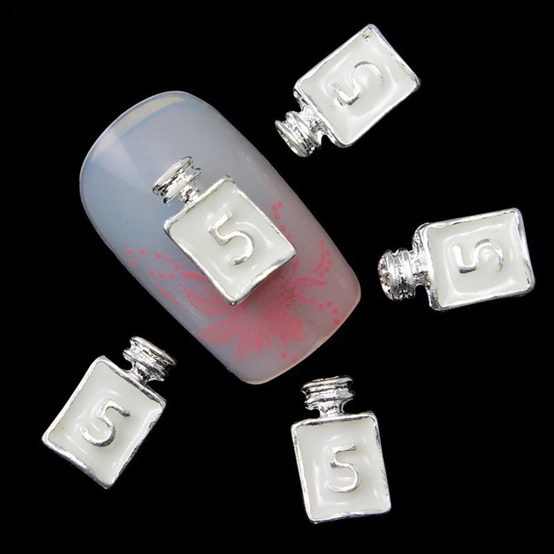 10 Pcs Perfume Bottle Nails Art Rhinestone Glitter White Professional Crystals Stones Fingernail Designs Delicate Popular Small Acrylic Gel Holiday Decor Girls Makeup Tool Tips