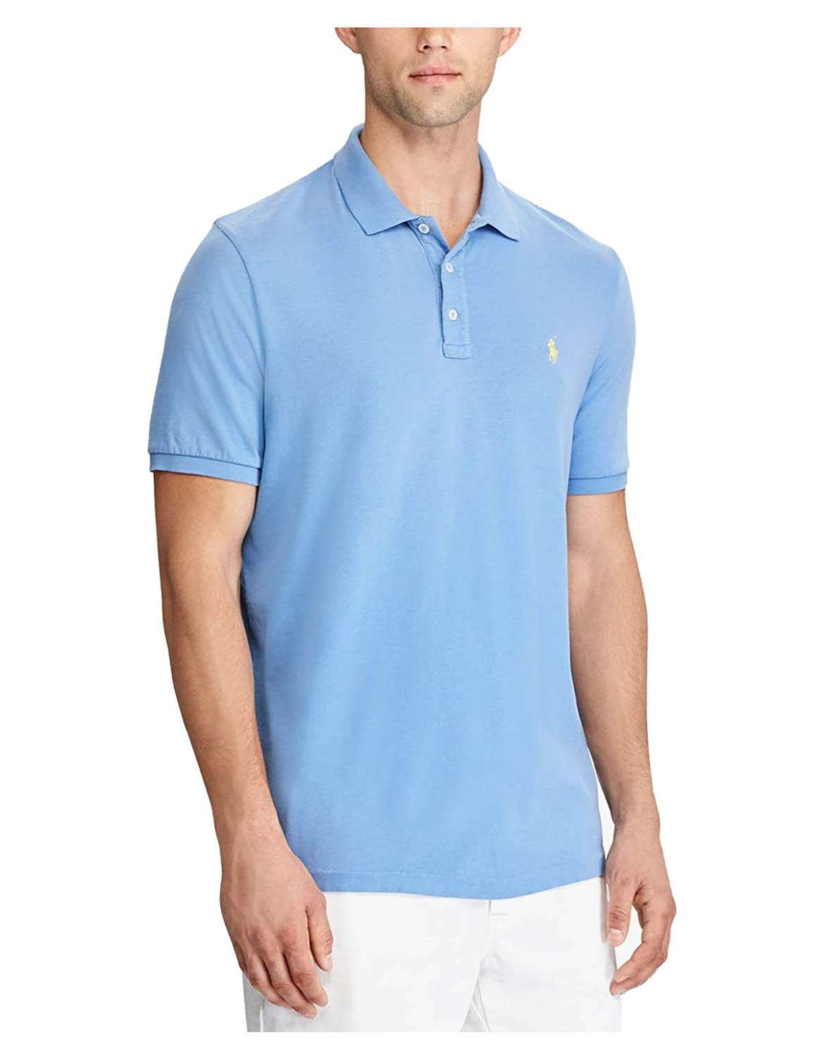 6bc9a7e1 Classic Fit: the roomiest silhouette, Ralph Lauren's Polo shirts also come  in Custom Slim Fit (the trimmest) Size medium has an approx.