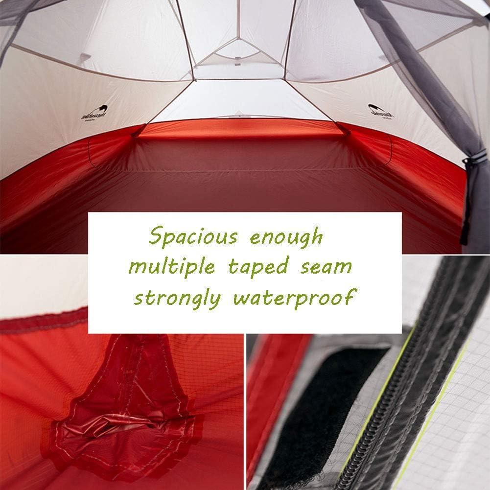 (Naturehike Cloud up Série) Tente de Version Mise à Jour, Tente de Randonnée Imperméable, Tente de Camping Ultra-légère à Double Couche pour 1 à 3 Personnes vert, 3 personnes