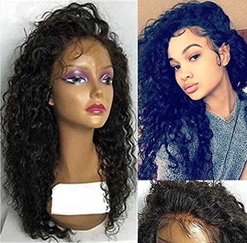 Curly Hair Wig Wigs Full Lace Human Hair Wigs Deep Curly Wave Brazilian Virgin Hair Lace Front Wigs shipping by DHL 130density (20 inch,1B)