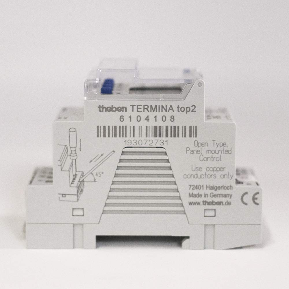 Theben 6104108 TR 610 top2 24V UL MADE IN GERMANY timer DIN-Rail 1 channel digital time switch programmable