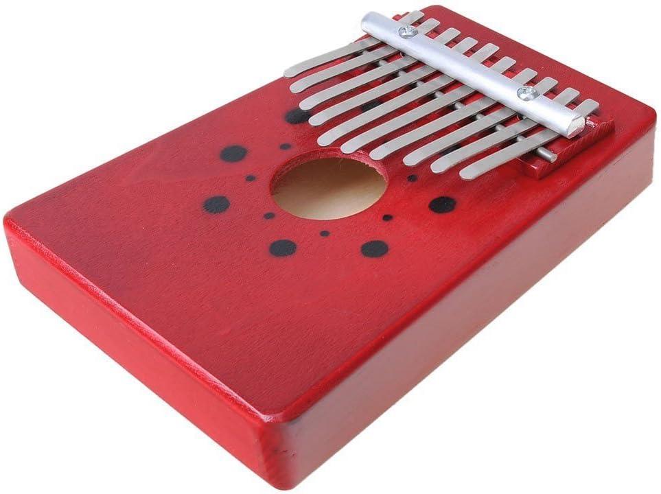 B06WP475Y4 Luvay Kalimba Thumb Piano Mbira, Finger Piano African Instrument (10keys-Red) 61gn0ZitF6L