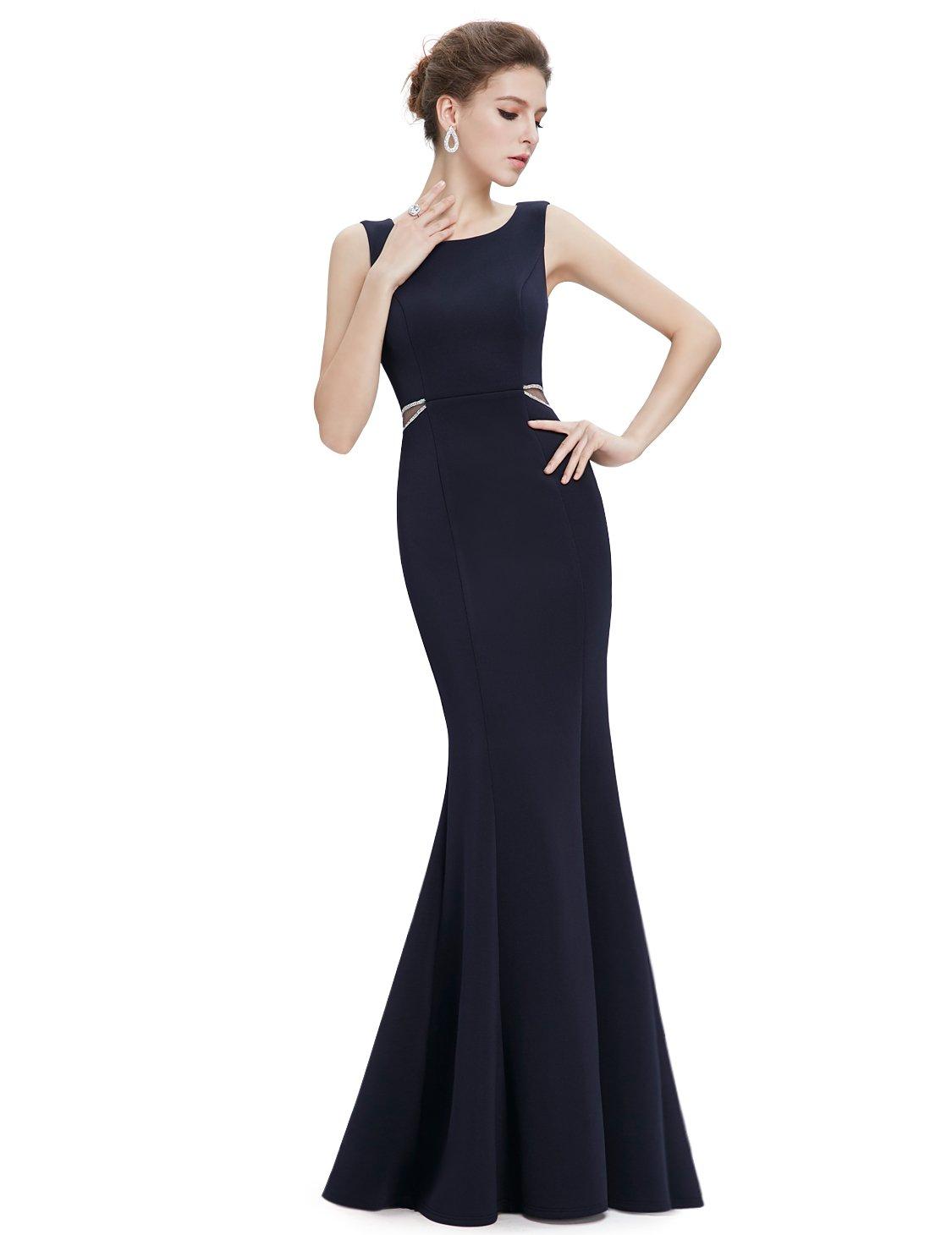 Ever-Pretty Womens Round Neckline Sleeveless Mermaid Style Evening Dress 10 US Midnight Blue