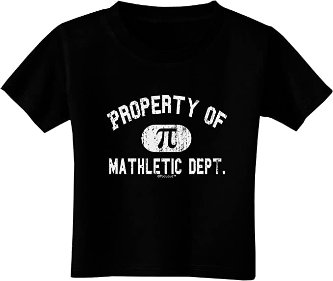 TooLoud Mathletic Department Distressed Infant T-Shirt Dark