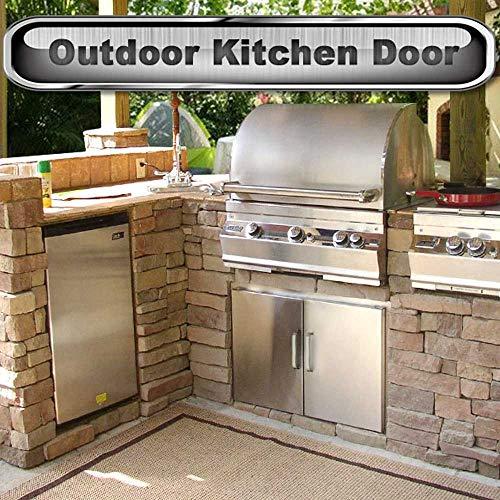 Seeutek Outdoor Kitchen Doors BBQ Access Door 31W x 24H Inch - Stainless  Steel Double Wall Construction Vertical Door for Outdoor Kitchen Grilling  ...