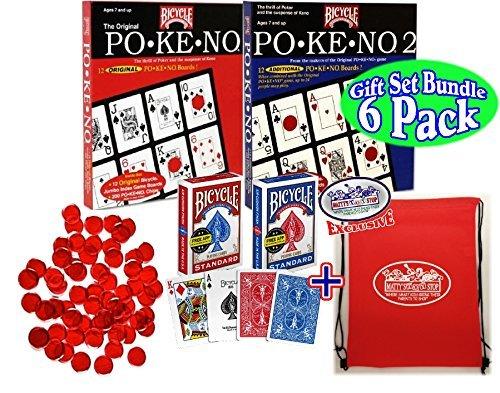 Us Playing Cards Pokeno (Po-Ke-No) Original Red, Pokeno 2...