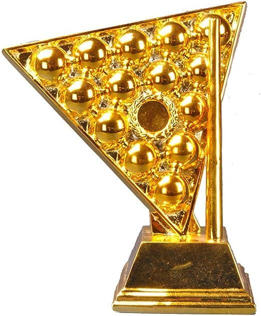 Trofeo de campeón, Trofeo de Torneo, Trofeo de Billar, Regalo de artesanía de Resina, decoración Familiar de Regalo-Gold: Amazon.es: Deportes y aire libre