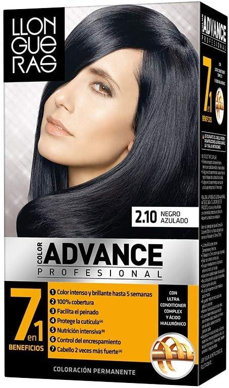 Tinte LLongueras Color Advance 2/1 Negro Azulado: Amazon ...