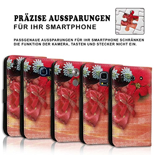 Wallet Book Style Flip Handy Tasche Case Schutz Hülle Schale Motiv Etui für Apple iPhone 4 / 4S - Design Flip MV242