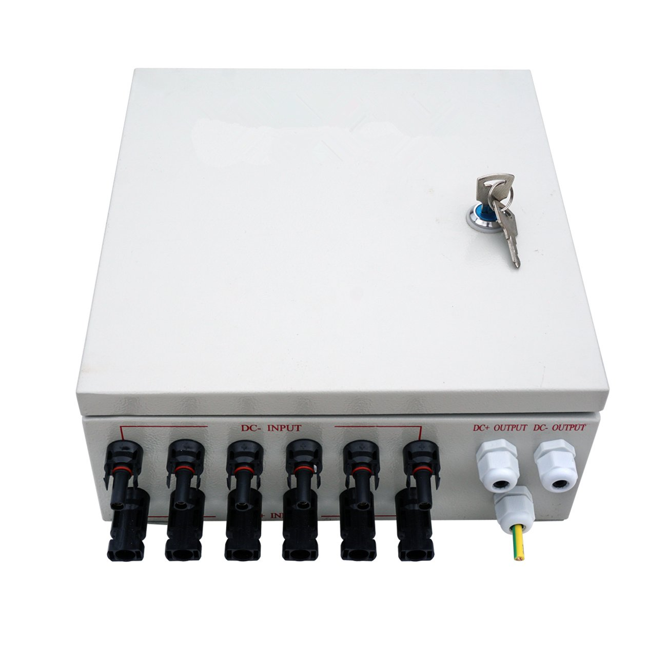 amazon com : eco llc 6 string pv combiner box 10a rated current with  lighting arreste and grounding bus-bar ideal for off-grid solar system :  garden &