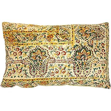 Acapillow Indian Gauze Cloth Pillow 23 L X 15 W Cotton Handmade In Santa Monica California