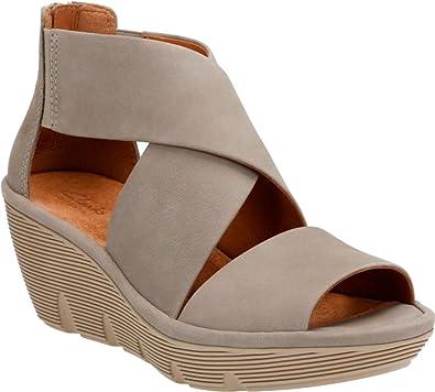 7ba61052fca Clarks Women s Clarene Glamor Strappy Wedge Sandal
