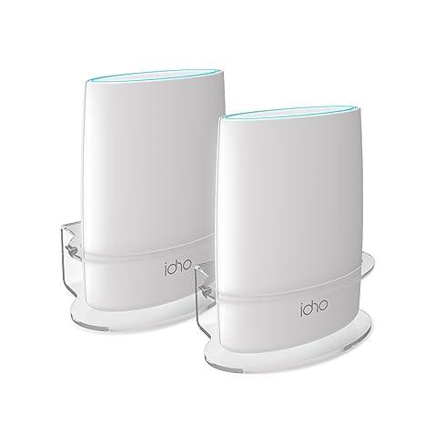 Netgear Orbi Wall Mount, BASSTOP Sturdy Clear Acrylic Wall Mount Bracket  Compatible with Orbi WiFi Router RBS40, RBK40, RBS50, RBK50, AC2200, AC3000