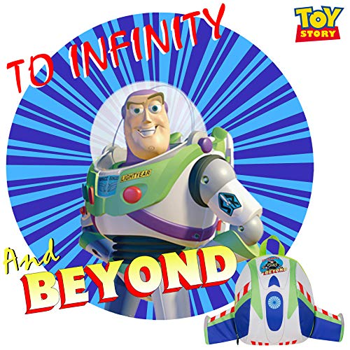 Toy Story Buzz Lightyear Dome Padded Backpack with Wings Disney Pixar School ...