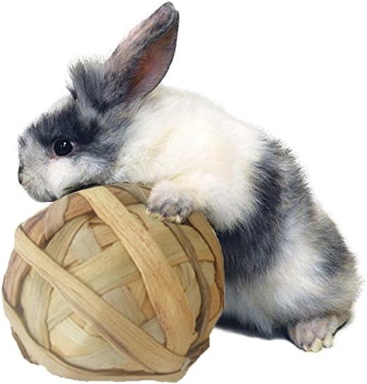 Juguete para masticar conejos de hierba natural para mascotas ...