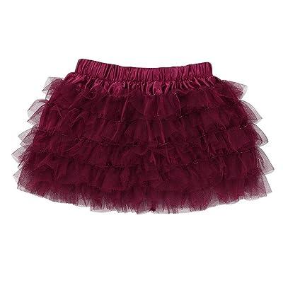 POLP Niña Conjuntos◕‿◕Niña Falda de Baile,Casual Elegante Moda,Niñas Ropa Falda Corta Falda Princesa,Falda verde,Falda rosa,Impresión Falda,Falda Mujer Elástica Plisada Multifuncional