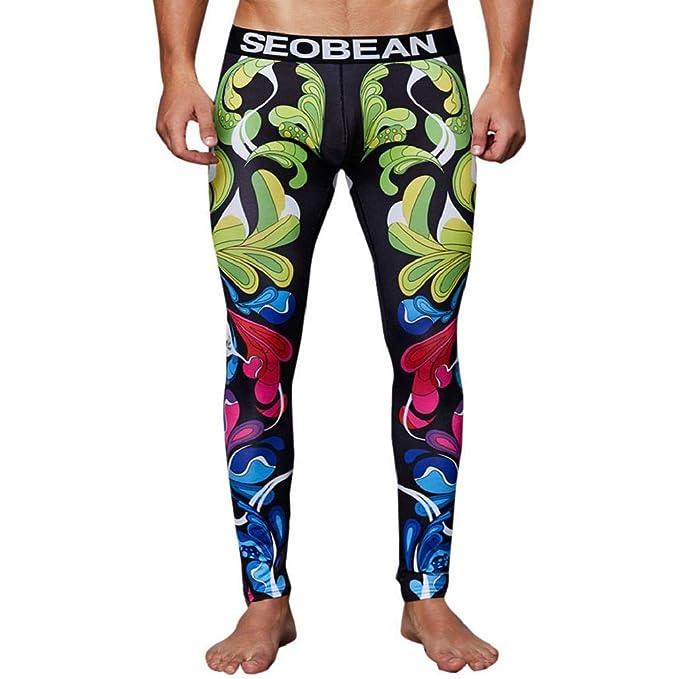 MISYAA Mens Yoga Pants, Muscle Tights Indian Totem Stretchy ...