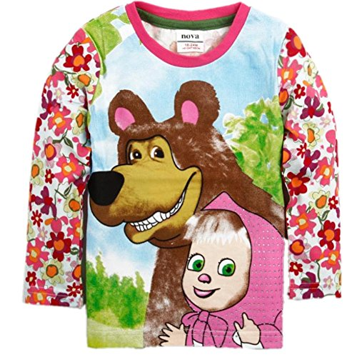66a8192411fe9 Kids Wear Cartoons Clothing Masha and Bear Fashion Long Sleeve T ...
