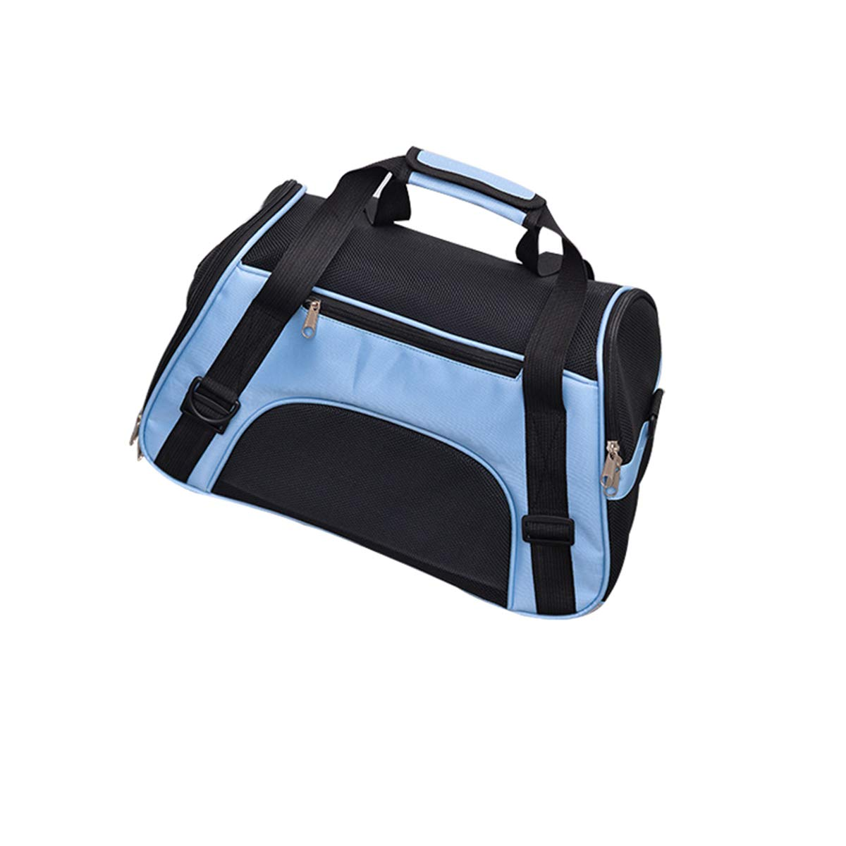 bluee Without Mat S bluee Without Mat S PETFDH 4 colors Small Dog Carrier Bag Folding Portable Cat Bag Soft Sided Dog Shoulder Bag Outdoor Pet Travel Bag for Dog Cats bluee Without Mat S