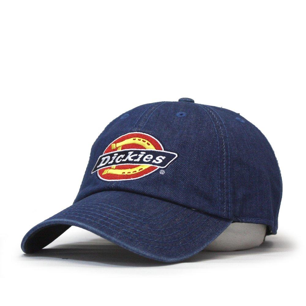 2823f0f74cb53 Dickies Icon Denim Adjustable Strap Dad Hat Baseball Cap (Blue) at Amazon  Men s Clothing store