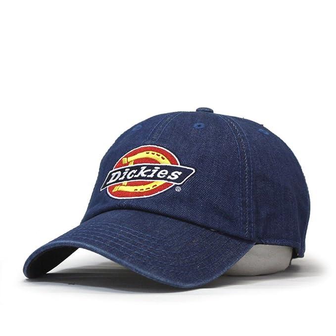 12b503e238202 Dickies Icon Denim Adjustable Strap Dad Hat Baseball Cap (Blue) at ...