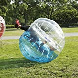 BubbleU24(TM) Inflatable Bumper Ball 5ft (1.5M) Diameter, Bubble Soccer Ball Blow Up Toy in 5 Min, Human Hamster Zorb Ball for Kids Adults Parties Rentals(Blue and Clear)