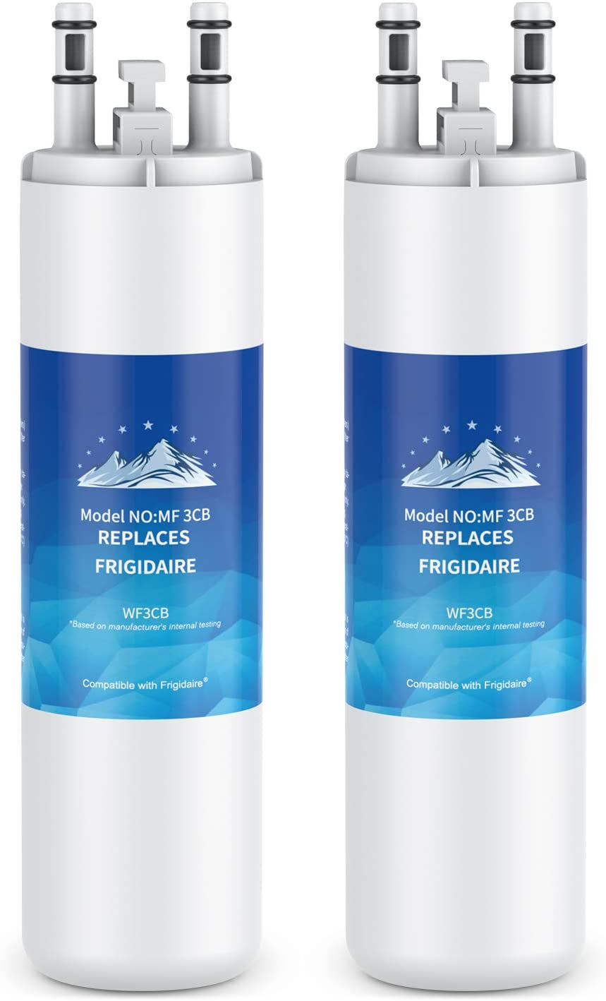 Mountain Flows WF3CB Compatible Refrigerator Water Filter Replacement Pure Source 3, AP4567491 - (2 PACKS)