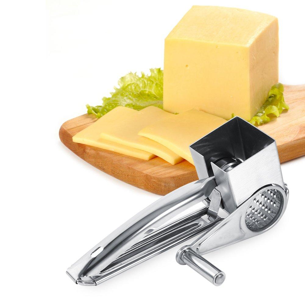 Rallador de queso Molinillo Queso con manivela para queso de acero inoxidable multifunci/ón Kitchen Craft