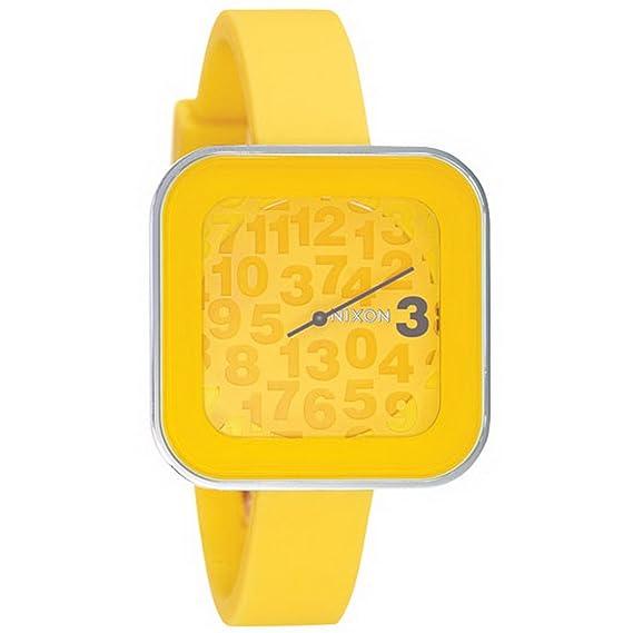Nixon A162639-00 - Reloj analógico y digital de cuarzo para mujer con correa de silicona, color amarillo: Amazon.es: Relojes