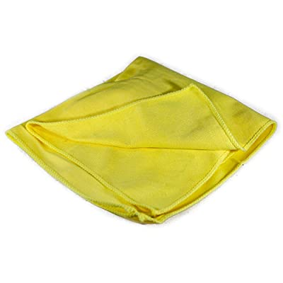 """Towels by Doctor Joe - Ultra-51 Yellow 16"""" x 16"""" Lint-Free Microfiber Glass Cleaning Cloth - 12 Pack: Automotive"""