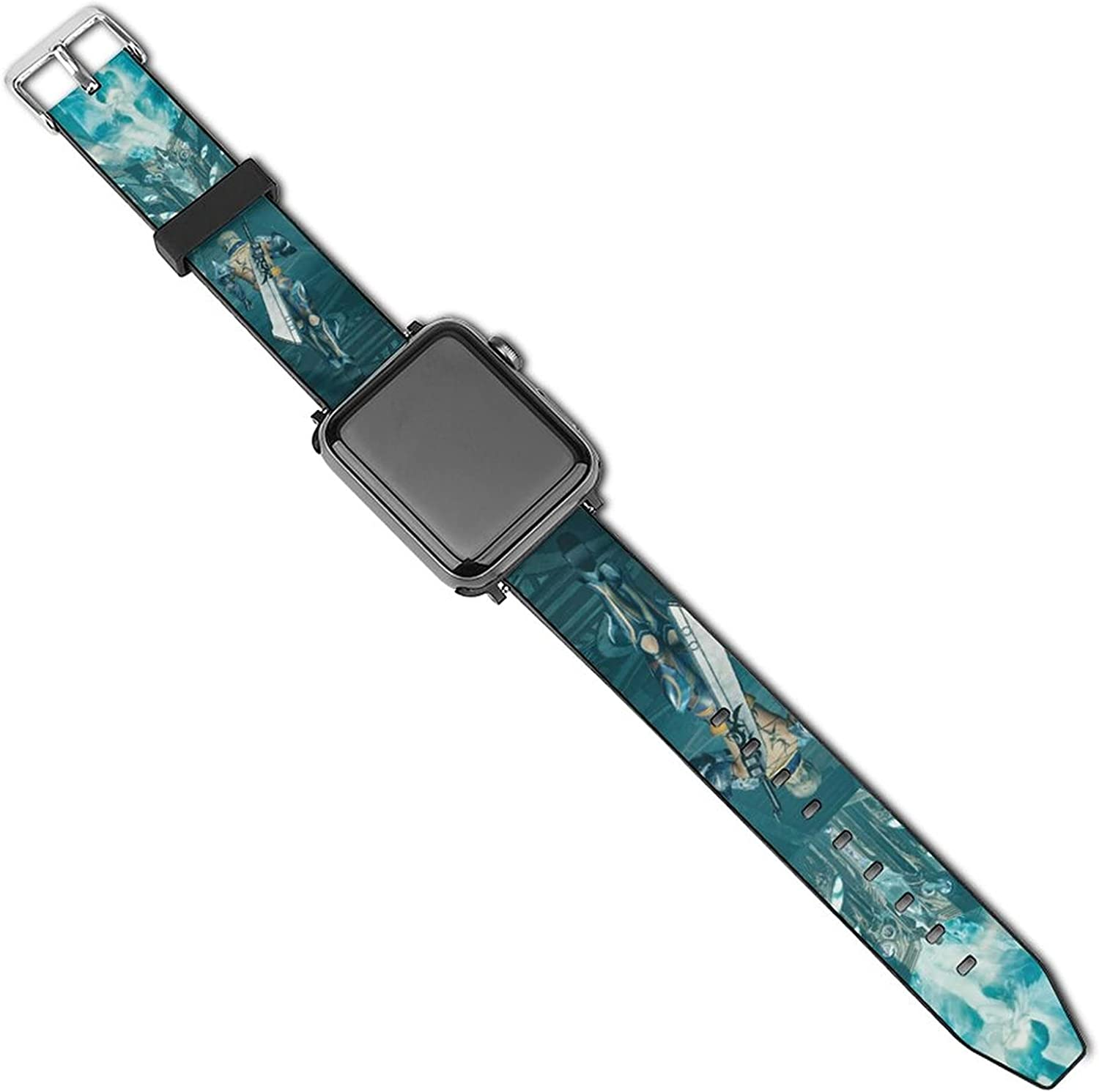 Final Fantasy-Game-VII Apple Watch Bands Strap Compatible With IWatch Series 5/4/3/2/1 Replacement Classic Clasp Apple Watch Strap 42-44mm or 38-40mm Apple Watch Strap for man women