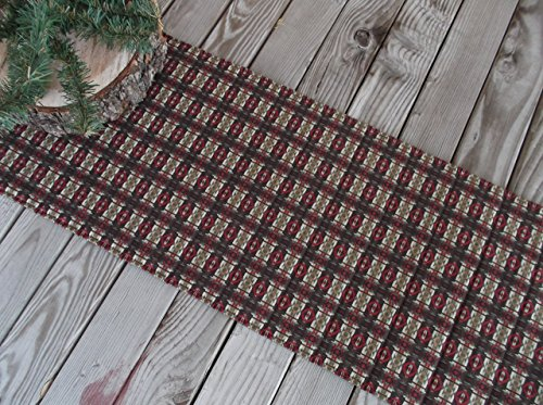 - Brown Cabin Rustic Quilted Fabric Table Runner or Sideboard Runner 73 inches