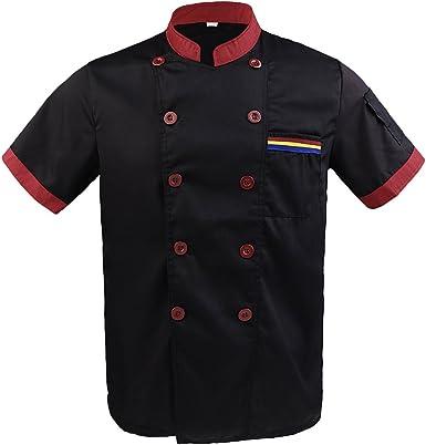 Gazechimp Camiseta Corta de Cocina con Bolsillo Pluma Unisex ...