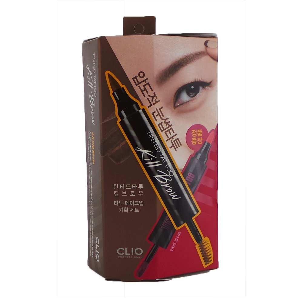 (6 Pack) CLIO Tinted Tattoo Kill Brow Tattoo Makeup Set Earth Brown